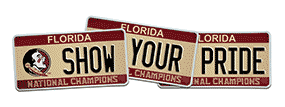 FSU License Plate