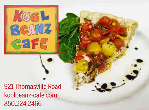 Kool Beanz Cafe: 921 Thomasvill Road: koolbeanz-cafe.com: 850-224-2466
